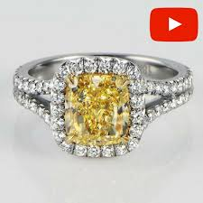 fancy yellow diamond engagement rings fancy yellow diamond engagement ring sea wave diamonds