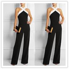 white jumpsuits for plus size rompers womens jumpsuit 2017 black white splicing playsuits