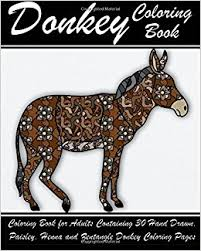 donkey coloring book coloring book adults 30 hand