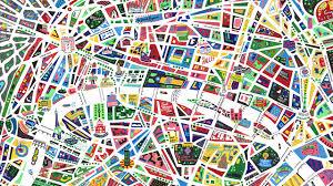 Map Of Paris France by Subway Map Art Print Le Metro De Paris By Ratp French France