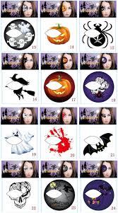 halloween eye tattoo sticker pumpkin witch spider designs tattoo