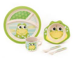 green frog friends bamboo kids meal set u0027the frog u0027 u2013 greenfrog baby