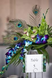 peacock centerpieces peacock wedding centerpieces