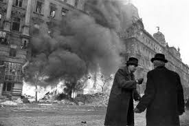siege axis hungarian civilians stand in the as budapest burns part of