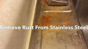 How To Remove Rust Stains From Bathtub Naturally How To Remove Rust From A Stainless Steel Sink Clean Polish And