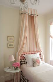 Princess Drapes Over Bed Felt Unicorn Head Over White Canopy Bed Traditional Bedroom
