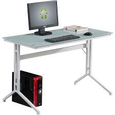 white glass computer desk for home office compact stable piranha