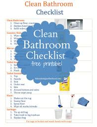 clean bathroom checklist for kids u2013 maintaining motherhood