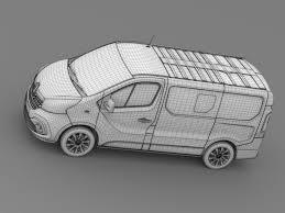 renault minivan 3d model renault trafic combi 2017 cgtrader