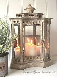 vintage cream metal bird cage tealight lantern amazon co uk