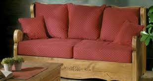 canapé en pin 2 places en pin massif et tissu au choix alaska