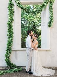 wedding backdrop garland greenery garland wedding backdrop elizabeth designs the