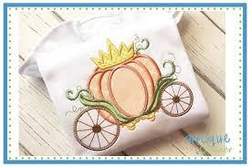 Pumpkin Carriage Applique Corner Pumpkin Carriage Crown Applique Design From
