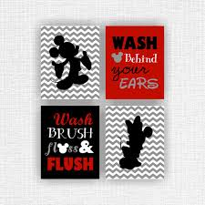Mickey And Minnie Bathroom Instant Download Mickey Mouse And Minnie Mouse Bathroom Wall