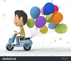 balloon delivery balloon delivery stock illustration 100900807
