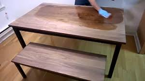 Black Walnut Table Top by Real Milk Paint 100 Pure Tung Oil On Black Walnut Youtube