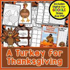 turkey for thanksgiving book a turkey for thanksgiving book companion by comprehension connection