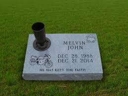 flat headstones flat grass marker with metal vase f200mj headstones urns