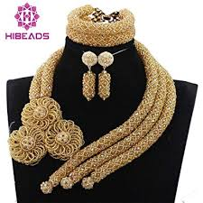 beads design necklace images Gold beads statement women jewelry necklace set dubai jpg