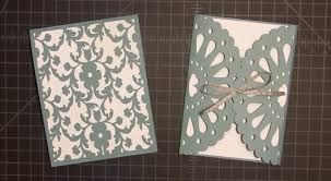 How To Make Your Own Invitation Cards Frilly Doily Card With Cricut Explore Tutorial Youtube