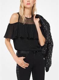 peekaboo blouse jacquard peekaboo blouse michael kors