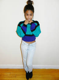 80s sweater dress sweater clothes blue black teal big cropped