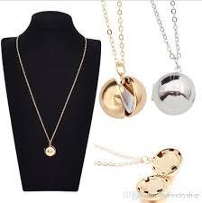 long necklace chain wholesale images Wholesale fashion best friends necklace hidden secret message ball jpg