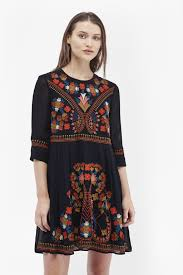 french connection colourful kiko embroidered dress lyst