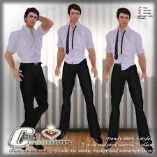 second life marketplace g u0026t trendy lilac lavendel linen shirt