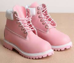 shoes light pink timberlands light studded timberland boots