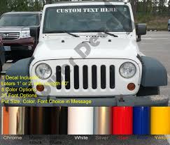 jeep army decals custom text color u0026 font windshield decal fits jeep