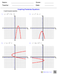 math function worksheets graphing quadratic functions worksheets math aids