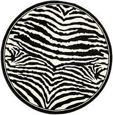 Black And White Zebra Area Rug Round Zebra Rug Ebay