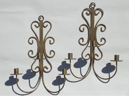 Candle Wall Sconces Wrought Iron Vintage Wrought Iron Wall Sconces Hanging Chandelier Candle Holders