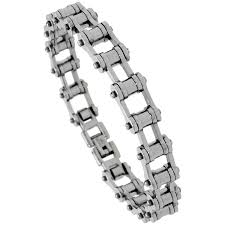 mens stainless steel chain bracelet images Stainless steel bicycle chain bracelet for men 3 8 jpg