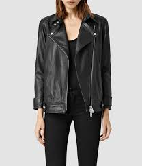 Allsaints Ryder Leather Biker Jacket In Black Lyst