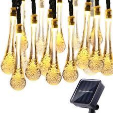 qedertek solar string lights qedertek solar string lights 19 2 ft 8 modes 30 water drop led led