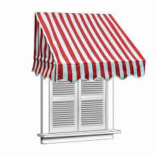Awning Saver Window Awning Red And White Striped Aleko