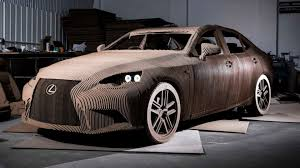 lexus small car models the life size drivable cardboard lexus youtube