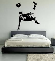 Football Wall Murals by Wayne Rooney Football Wall Art Stickers Over Head Kick Manchester