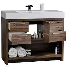 40 modern bathroom vanity set with walnut finish tn l1000 wn