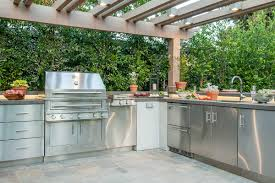 Newage Products Stainless Steel Classic 5 Piece 160x36x24 In by 100 Outdoor Kitchen Furniture Designing Outdoor Kitchens