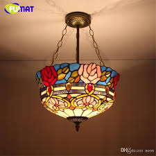 Glass Pendant Light Fixture Fumat Stained Glass Pendant Light Antique Glass Shade