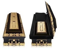 black casket golden casket unraveling scenery objects casket