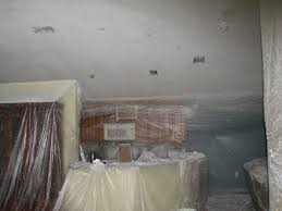 Remove Popcorn Ceiling And Paint by Popcorn Removal Knockdown Texture And Paint Before After Video