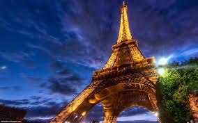 paris eiffel tower at night the beautiful french iron lady france