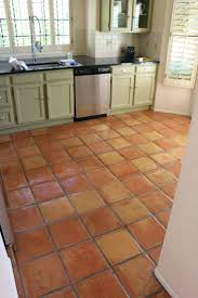 Kitchen Flooring Installation Tiles Dusty Coyote Stripping And Sealing A Saltillo Tile Floor