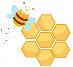 happy bee by a honeycomb u2014 stock photo hittoon 7276835