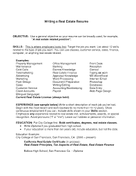 real estate resume resume sle 15 year best of realtor resume objective real