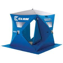 clam vista 6 u0027x6 u0027 hub pop up 2 angler ice shelter 229809 ice